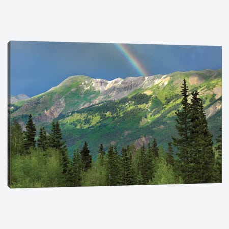 Rainbow Over Brown Mountain, Colorado Canvas Print #TFI857} by Tim Fitzharris Canvas Wall Art