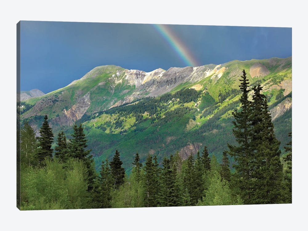 Rainbow Over Brown Mountain, Colorado by Tim Fitzharris 1-piece Canvas Print
