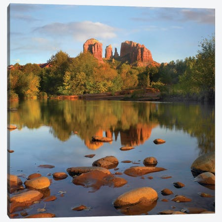 Red Rock Crossing, Arizona Canvas Print #TFI869} by Tim Fitzharris Canvas Wall Art