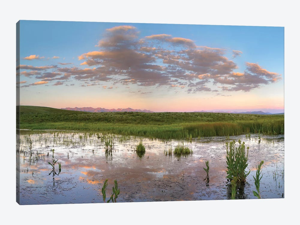 Reflection Of Clouds In The Water, Arapaho National Wildlife Refuge, Colorado by Tim Fitzharris 1-piece Canvas Art Print