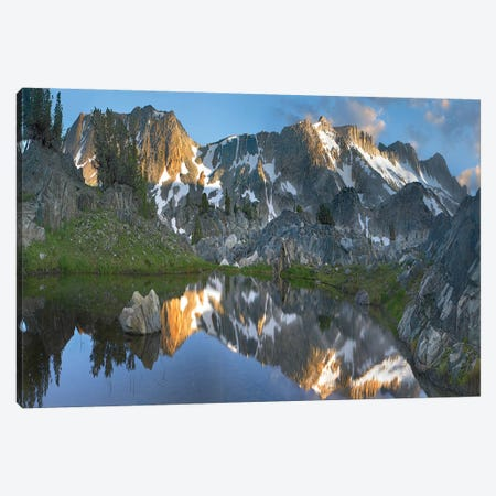 Reflections In Wasco Lake, Twenty Lakes Basin, Sierra Nevada, California Canvas Print #TFI880} by Tim Fitzharris Canvas Artwork