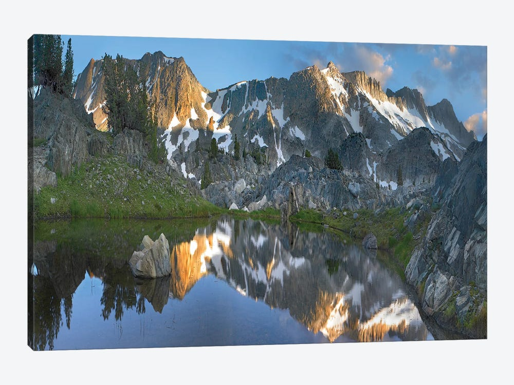 Reflections In Wasco Lake, Twenty Lakes Basin, Sierra Nevada, California by Tim Fitzharris 1-piece Canvas Art Print