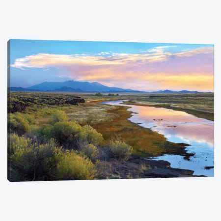Rio Grande And The Sangre De Cristo Mountains, Colorado Canvas Print #TFI886} by Tim Fitzharris Canvas Art Print