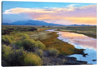 Rio Grande And The Sangre De Cristo Mountains, Colorado Canvas Art Print