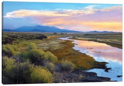 Rio Grande And The Sangre De Cristo Mountains, Colorado Canvas Art Print