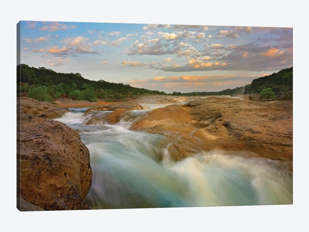 River In Pedernales Falls State Park, Texas by Tim Fitzharris 1-piece Canvas Art