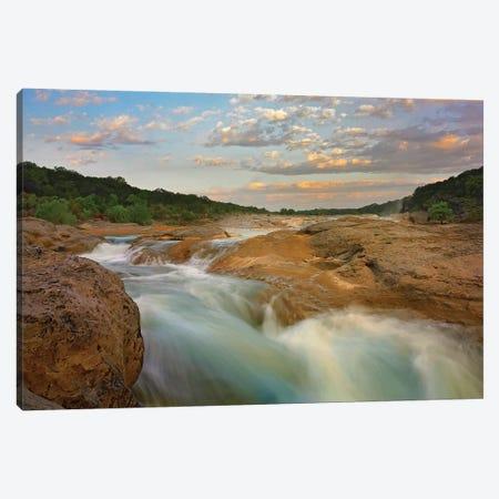 River In Pedernales Falls State Park, Texas Canvas Print #TFI890} by Tim Fitzharris Canvas Art Print