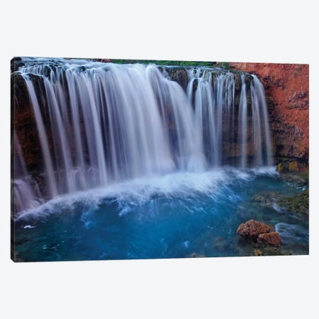 Rock Falls, Havasu Canyon, Arizona Canvas Print #TFI894} by Tim Fitzharris Canvas Wall Art