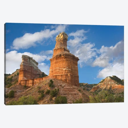 Rock Formation Called The Lighthouse, Palo Duro Canyon State Park, Texas Canvas Print #TFI896} by Tim Fitzharris Canvas Artwork