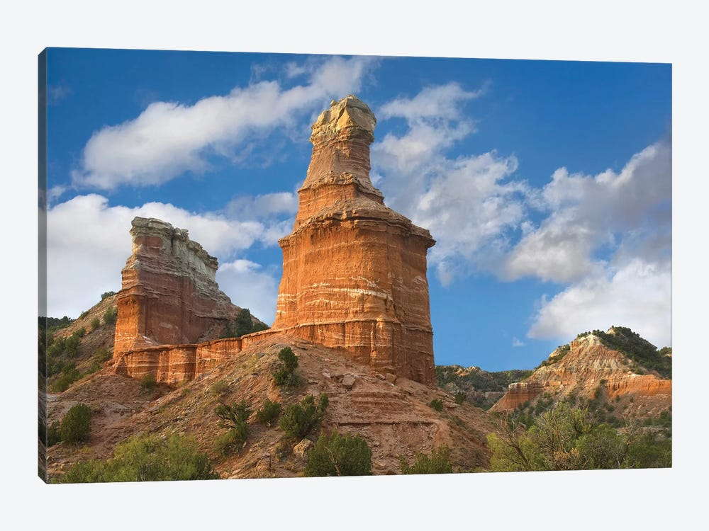 Rock Formation Called The Lighthouse, Palo Duro Canyon State Park, Texas by Tim Fitzharris 1-piece Canvas Artwork