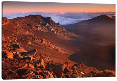 Rock Of Haleakala Crater, Haleakala National Park, Maui, Hawaii Canvas Art Print