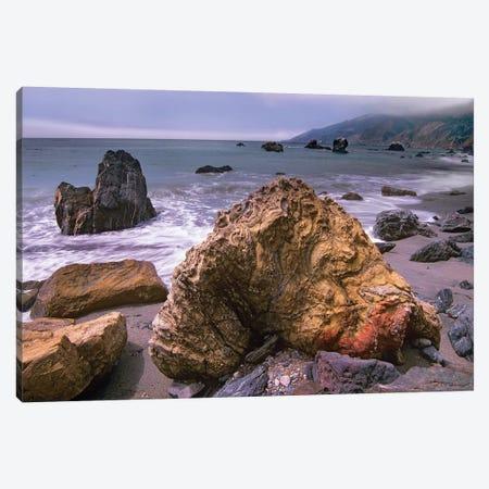 Rocks On Kirk Creek Beach, Big Sur, California Canvas Print #TFI901} by Tim Fitzharris Canvas Print