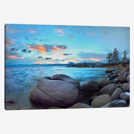 Rocky Shoreline Along Hidden Beach, Lake Tahoe, Nevada Canvas Print #TFI905} by Tim Fitzharris Canvas Art
