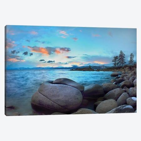 Rocky Shoreline Along Hidden Beach, Lake Tahoe, Nevada Canvas Print #TFI905} by Tim Fitzharris Canvas Art
