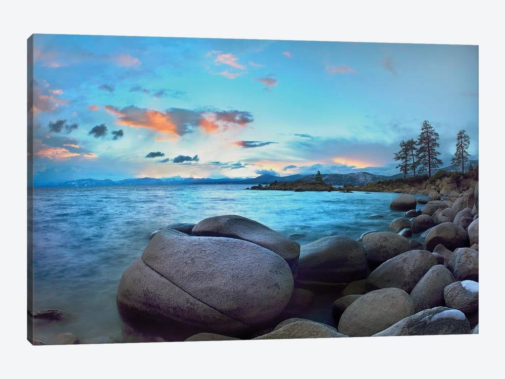 Rocky Shoreline Along Hidden Beach, Lake Tahoe, Nevada by Tim Fitzharris 1-piece Art Print