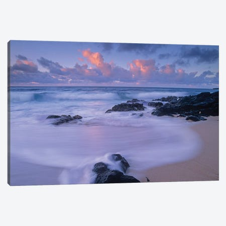 Rolling Waves At Dusk At Sandy Beach, Oahu, Hawaii Canvas Print #TFI907} by Tim Fitzharris Canvas Art