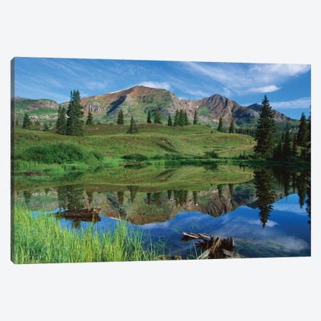 Ruby Peak Reflected In Lake, Raggeds Wilderness, Colorado Canvas Print #TFI912} by Tim Fitzharris Canvas Artwork