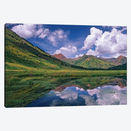 Ruby Range Reflected In Lake, Gunnison National Forest, Colorado I Canvas Print #TFI914} by Tim Fitzharris Canvas Art Print