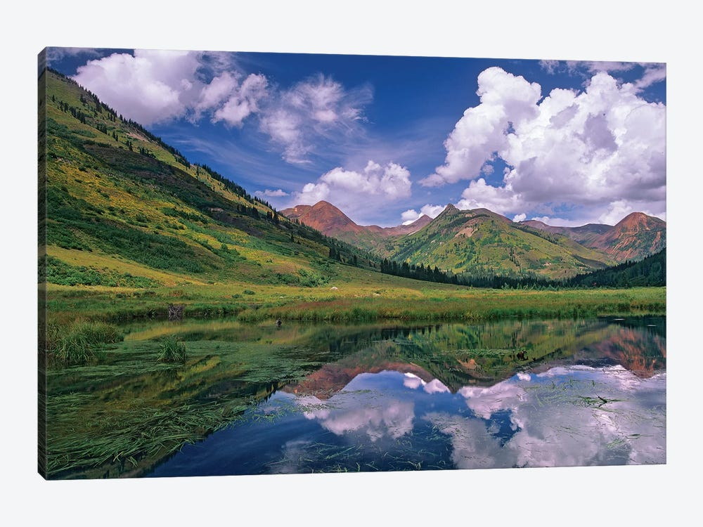 Ruby Range Reflected In Lake, Gunnison National Forest, Colorado I by Tim Fitzharris 1-piece Canvas Art Print