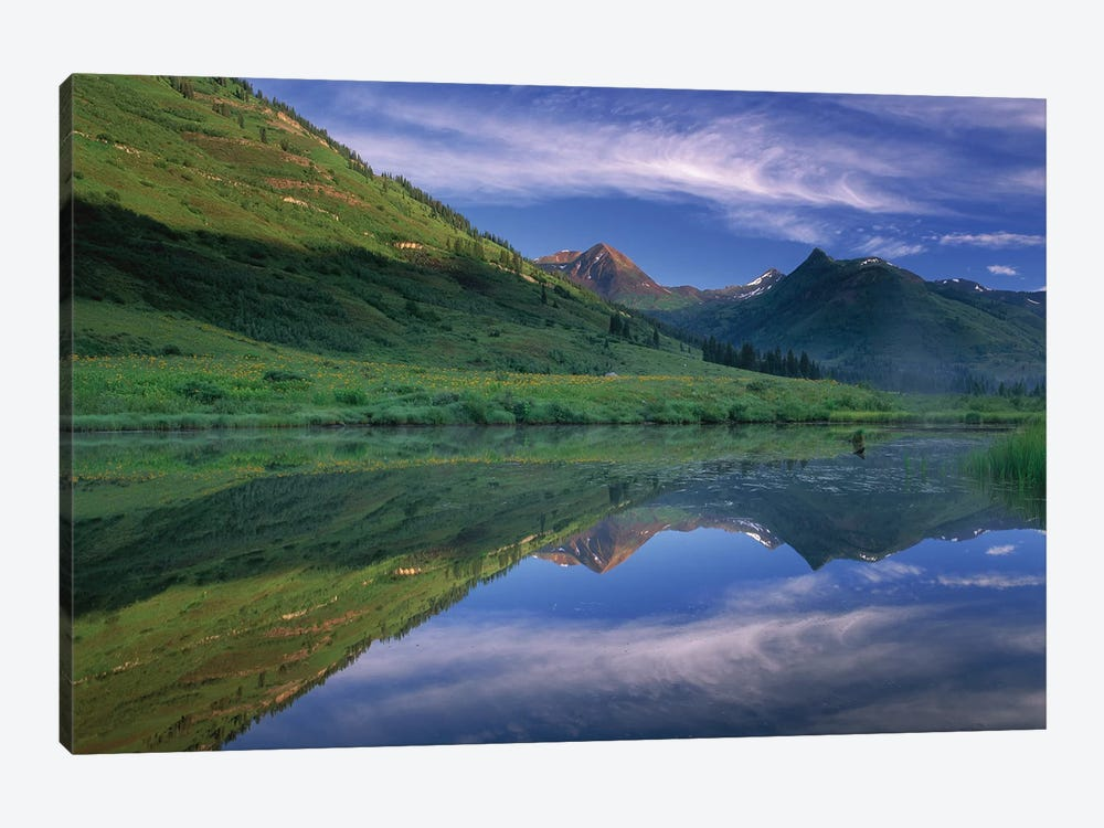 Ruby Range Reflected In Lake, Gunnison National Forest, Colorado II by Tim Fitzharris 1-piece Canvas Art