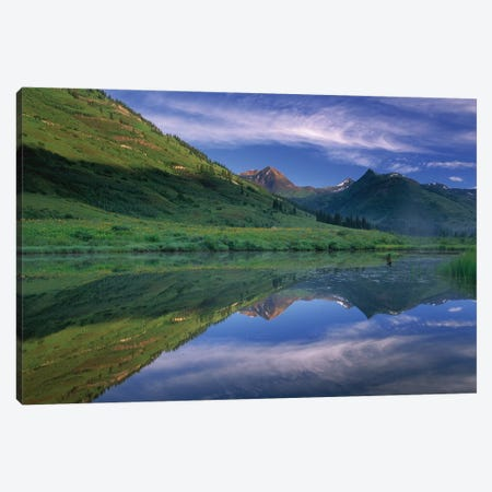 Ruby Range Reflected In Lake, Gunnison National Forest, Colorado II Canvas Print #TFI915} by Tim Fitzharris Canvas Print