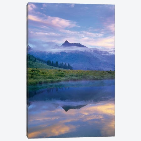 Ruby Range Reflected In The Slate River, Colorado Canvas Print #TFI917} by Tim Fitzharris Canvas Art Print
