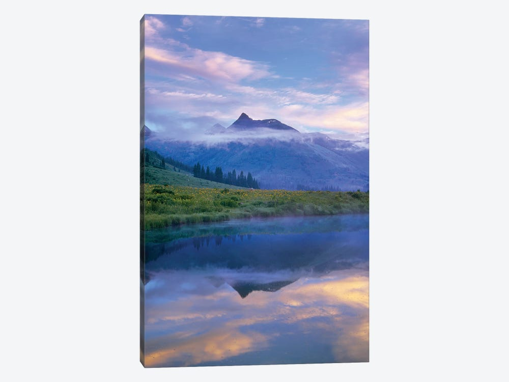 Ruby Range Reflected In The Slate River, Colorado by Tim Fitzharris 1-piece Canvas Artwork