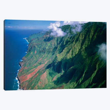 Rugged Cliffs Along Na Pali Coast State Park, Kauai, Hawaii Canvas Print #TFI921} by Tim Fitzharris Canvas Art Print