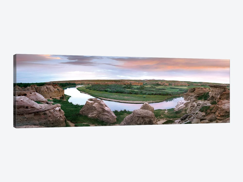 Bend In The Milk River, Writing-On-Stone Provincial Park, Alberta, Canada by Tim Fitzharris 1-piece Canvas Art