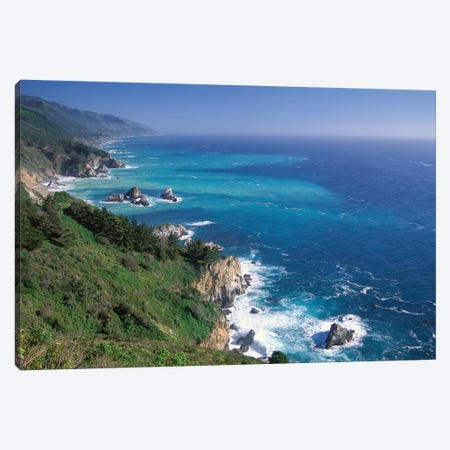 Big Sur Coast From Near Grimes Point, California Canvas Print #TFI94} by Tim Fitzharris Canvas Artwork