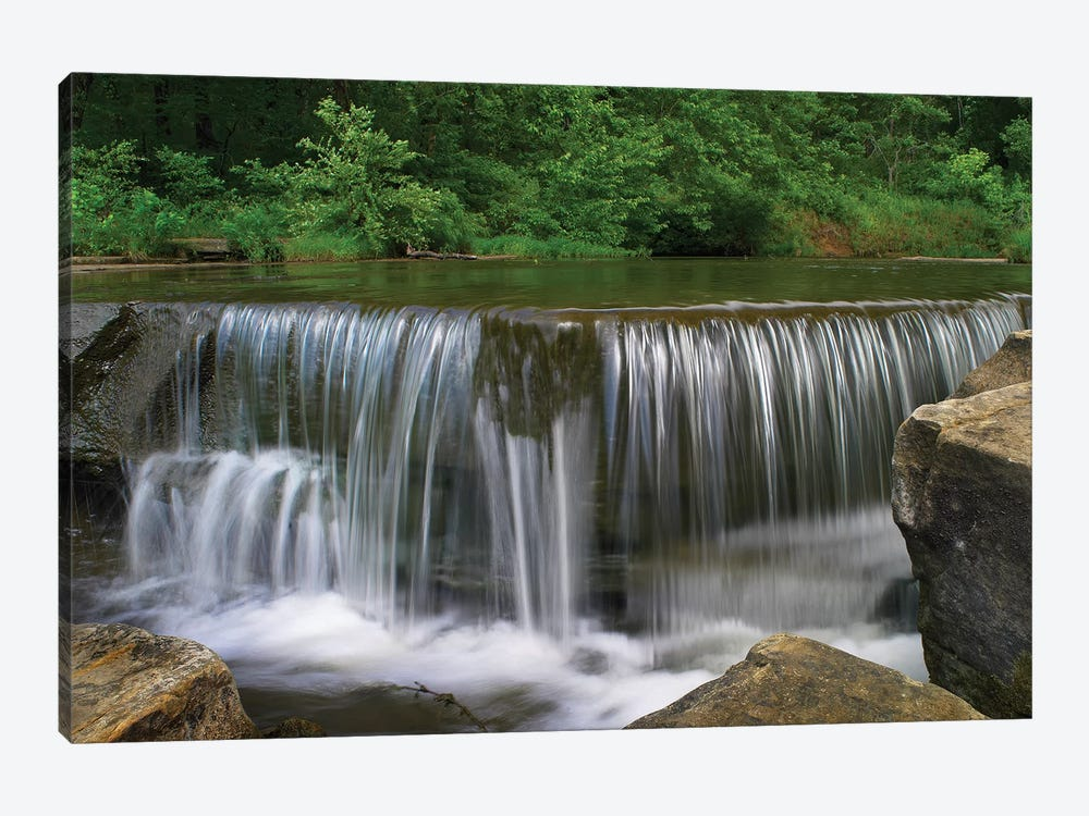 Sand Creek Cascades In Osage Hills State Park, Oklahoma 1-piece Canvas Art Print
