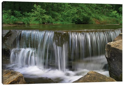 Sand Creek Cascades In Osage Hills State Park, Oklahoma Canvas Art Print