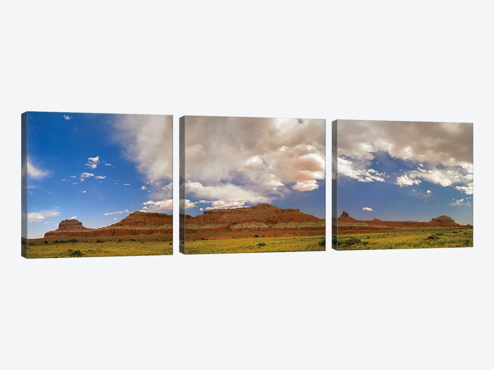 Big Wild Horse Mesa Near Goblin Valley, Utah by Tim Fitzharris 3-piece Canvas Art