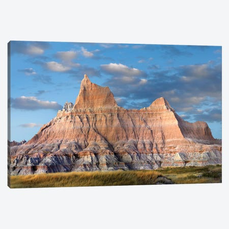 Sandstone Striations And Erosional Features, Badlands National Park, South Dakota Canvas Print #TFI966} by Tim Fitzharris Canvas Artwork