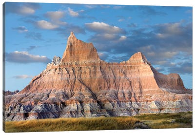 Sandstone Striations And Erosional Features, Badlands National Park, South Dakota Canvas Art Print