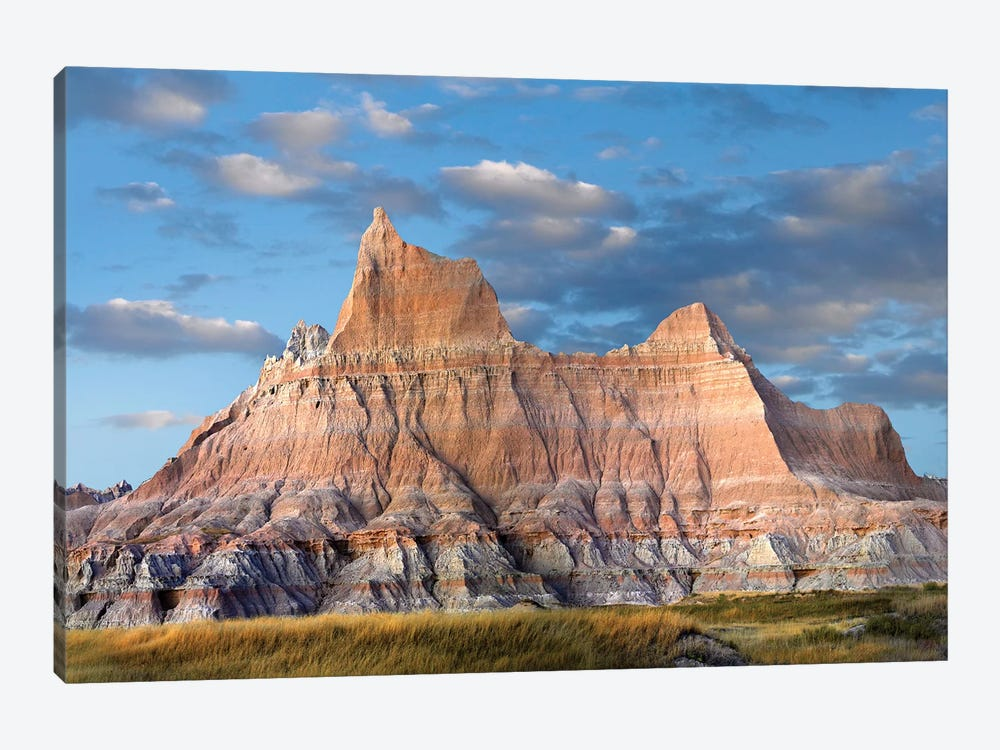 Sandstone Striations And Erosional Features, Badlands National Park, South Dakota by Tim Fitzharris 1-piece Canvas Wall Art