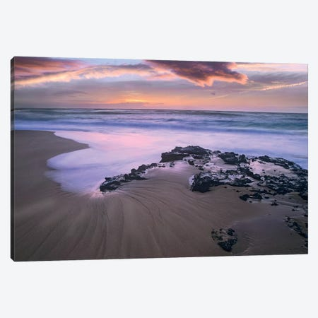 Sandy Beach, Oahu, Hawaii Canvas Print #TFI970} by Tim Fitzharris Canvas Artwork