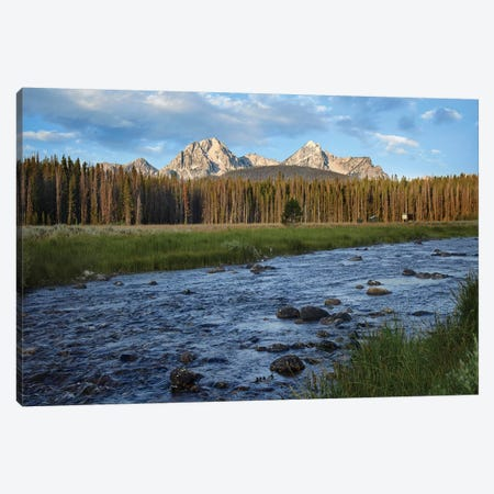 Sawtooth Range And Stanley Lake Creek, Idaho Canvas Print #TFI974} by Tim Fitzharris Art Print