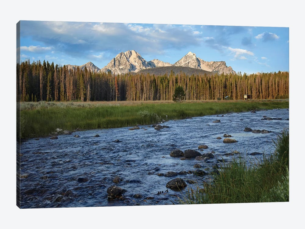 Sawtooth Range And Stanley Lake Creek, Idaho by Tim Fitzharris 1-piece Canvas Print