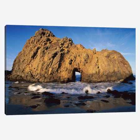 Sea Arch At Pfeiffer Beach, Big Sur, California Canvas Print #TFI981} by Tim Fitzharris Canvas Print