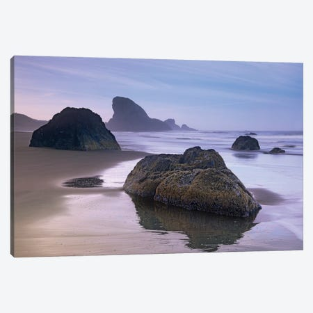 Sea Stack And Boulders At Meyers Creek Beach, Oregon Canvas Print #TFI984} by Tim Fitzharris Canvas Wall Art