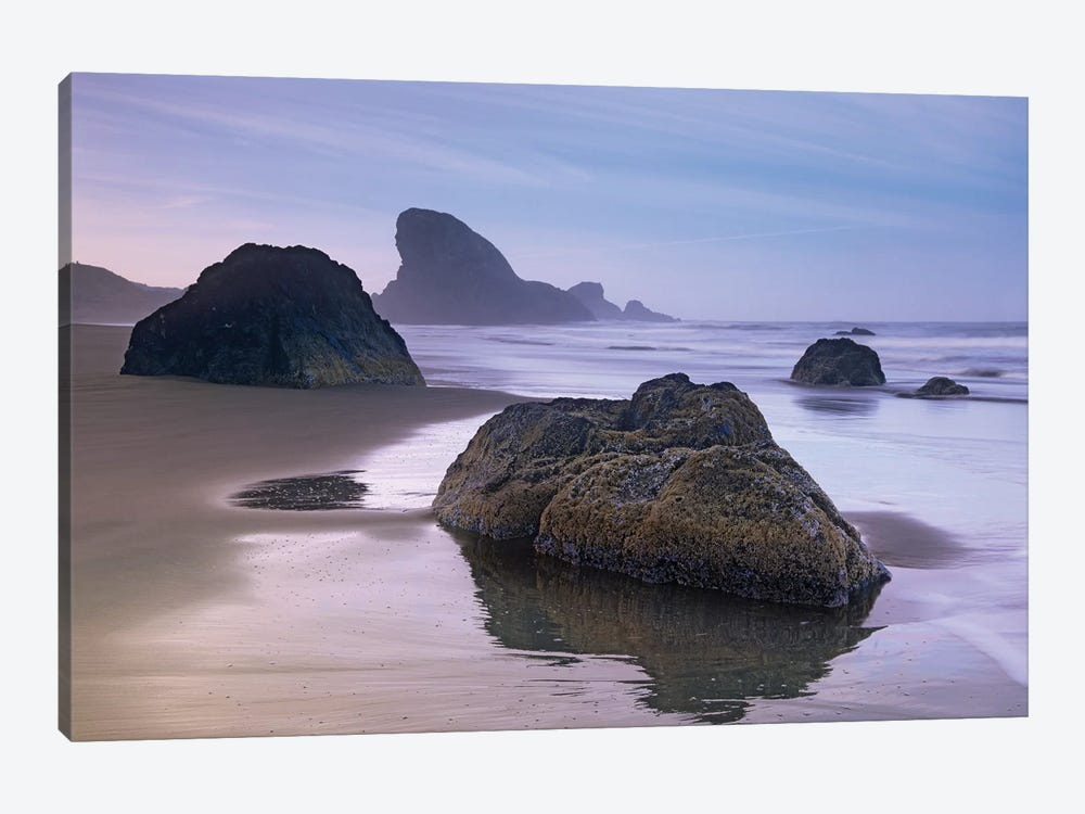 Sea Stack And Boulders At Meyers Creek Beach, Oregon by Tim Fitzharris 1-piece Canvas Wall Art