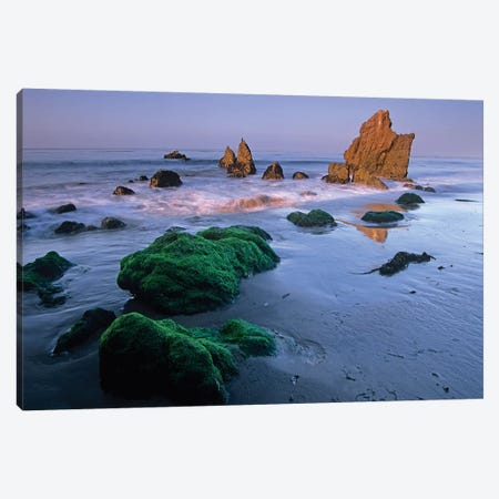 Seastacks On El Matador State Beach, Malibu, California Canvas Print #TFI987} by Tim Fitzharris Canvas Artwork
