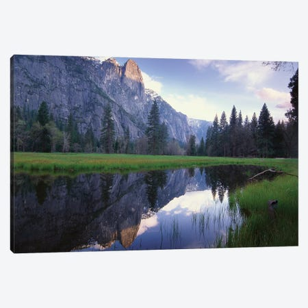 Sentinel Rock, Reflected In Water, Yosemite National Park, California Canvas Print #TFI990} by Tim Fitzharris Canvas Wall Art