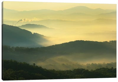 Shining Rock Wilderness From The Blue Ridge Parkway, North Carolina Canvas Art Print