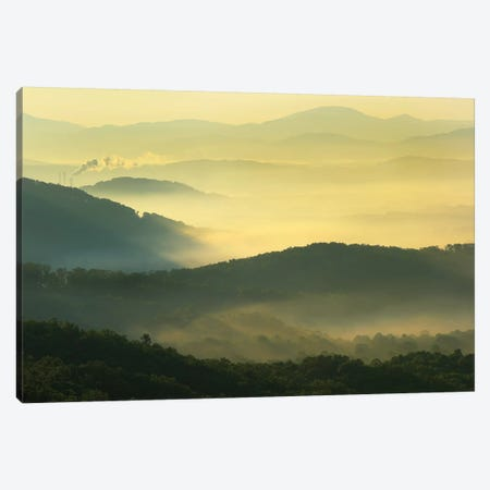 Shining Rock Wilderness From The Blue Ridge Parkway, North Carolina Canvas Print #TFI991} by Tim Fitzharris Canvas Wall Art