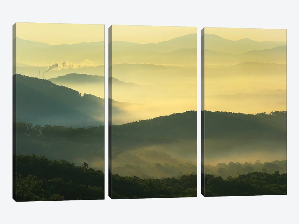 Shining Rock Wilderness From The Blue Ridge Parkway, North Carolina by Tim Fitzharris 3-piece Canvas Wall Art
