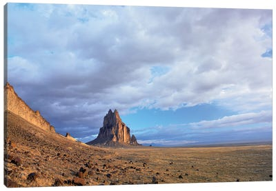 Shiprock, The Basalt Core Of An Extinct Volcano, New Mexico II Canvas Art Print