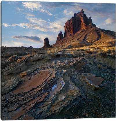 Shiprock, The Basalt Core Of An Extinct Volcano, New Mexico III Canvas Art Print