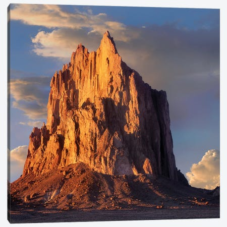 Shiprock, The Basalt Core Of An Extinct Volcano, New Mexico VI Canvas Print #TFI997} by Tim Fitzharris Canvas Art Print